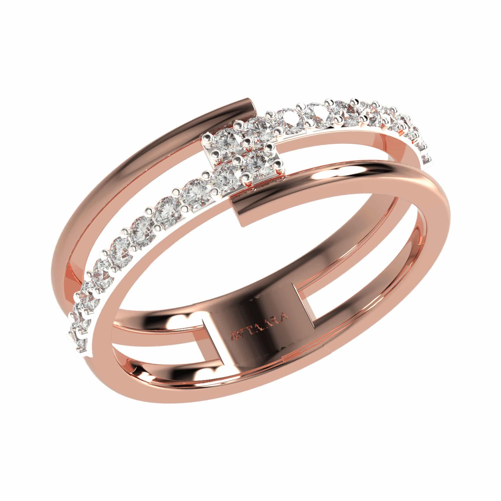 Rose gold kiara ring