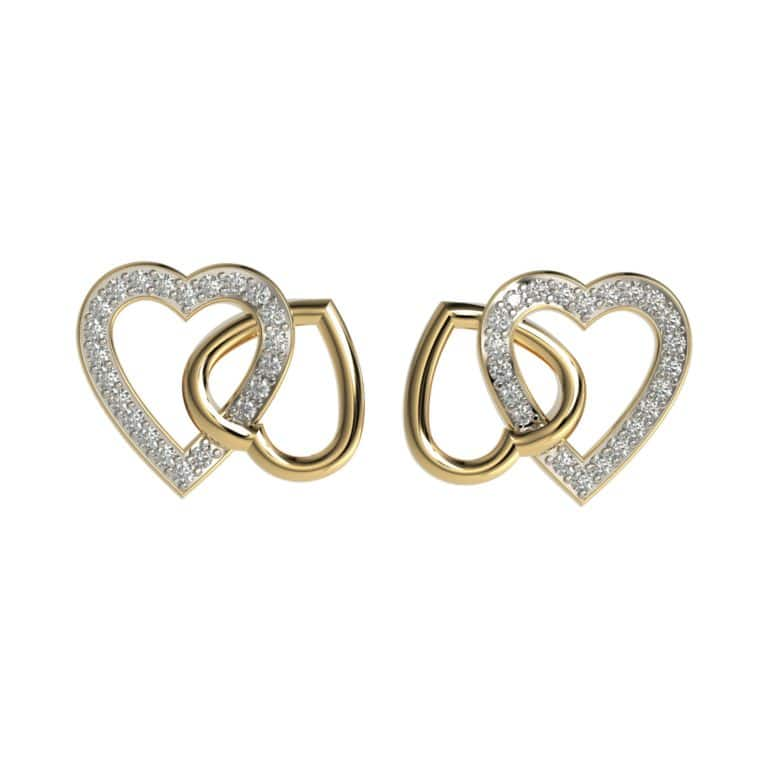 Dual Heart Earrings