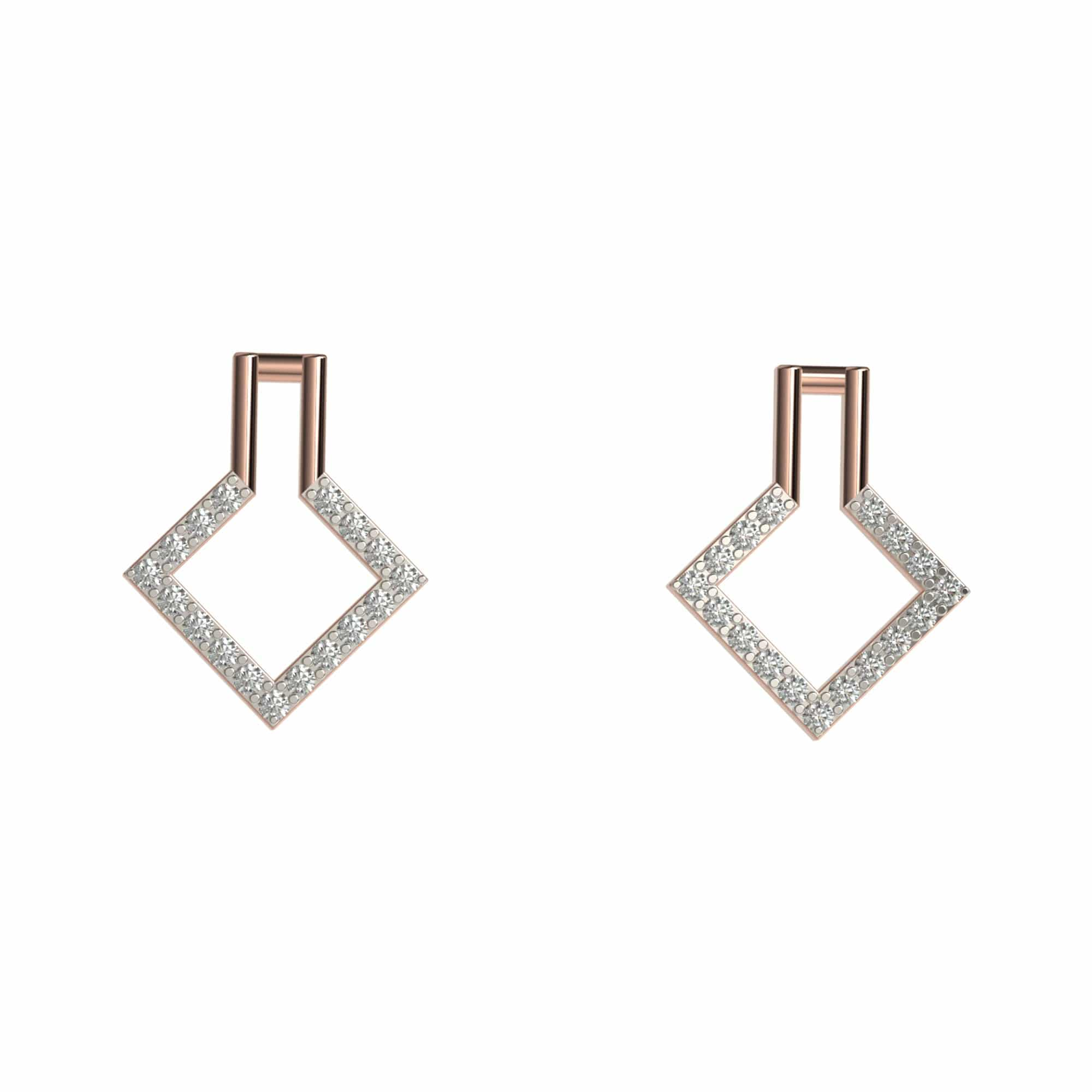 Inverted Diamond Earrings