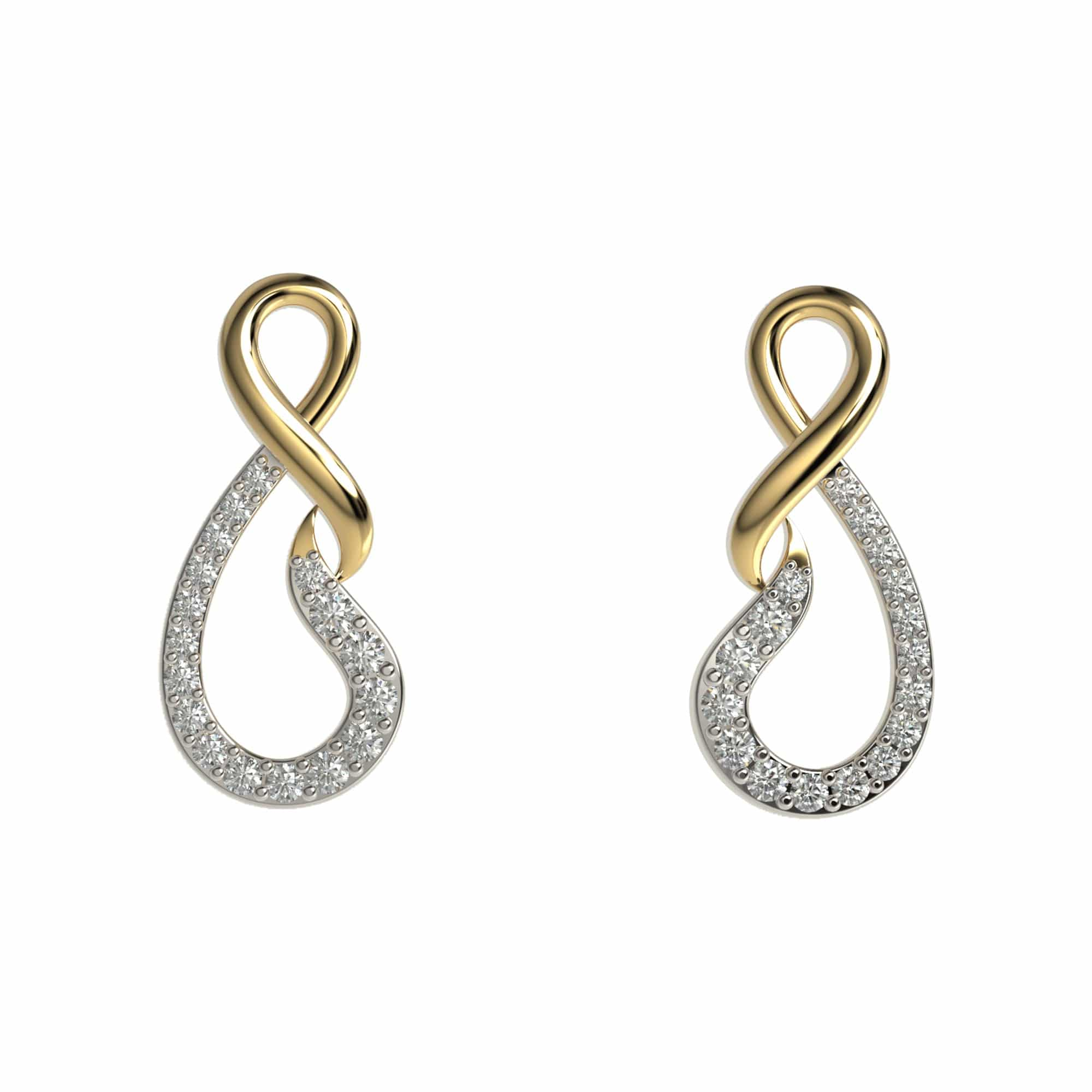 Modern Infinity Earrings