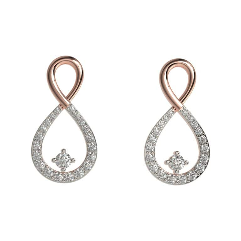 Sparkling Infinity Earrings